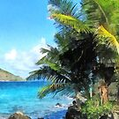 Palm Trees and Beach St. Thomas VI by Susan Savad