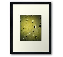Shower Door Detail – Yellow Framed Print