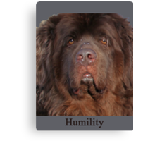 Humility Canvas Print
