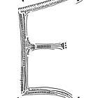 The letter E by handandi