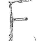 The letter F by handandi
