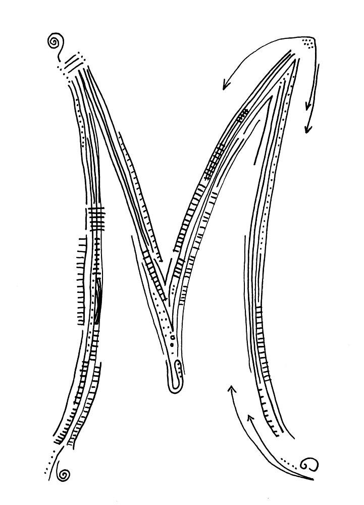 The letter M by handandi