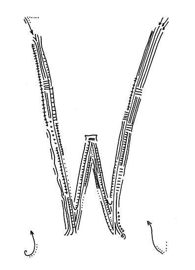 The letter W by handandi