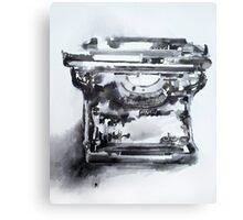 Vintage typewriter - pen & ink wash study Canvas Print