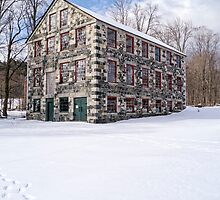 The Stone Mill At The Enfield Shaker Museum by Edward Fielding