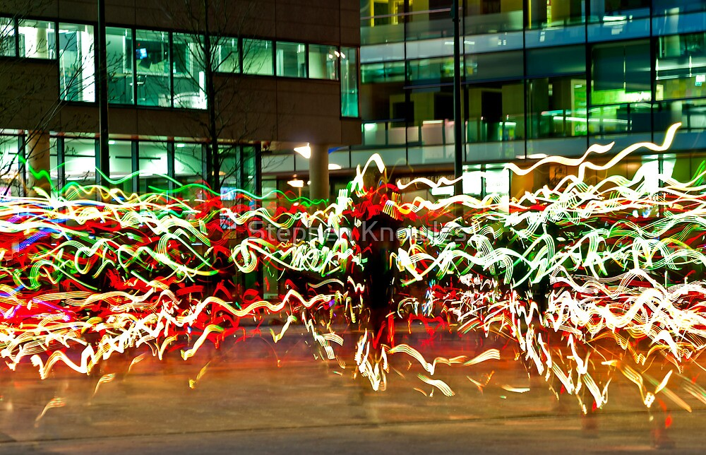 Light Show, Salford Quays by Stephen Knowles