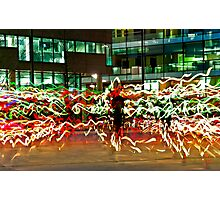 Light Show, Salford Quays Photographic Print