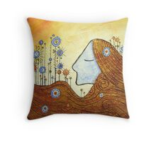 """""""Mother Nature"""" mothers day wall canvas art prints cards abstract color pictures Throw Pillow"""