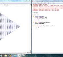 Python program: number pattern -(220313)- Digital screenprint by paulramnora