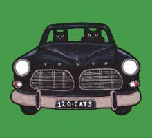 Black Volvo Cats Kids Tee
