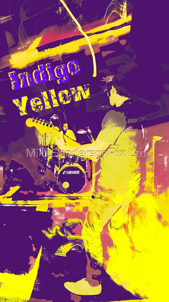 Indigo Yellow Band Poster - Funked I&Y by mps2000