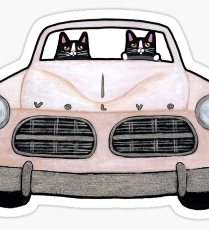 Volvo Road Trip Cats Sticker