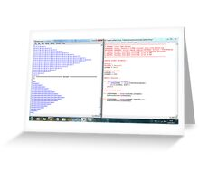Python program: name pattern -(220313)- Digital screenprint Greeting Card
