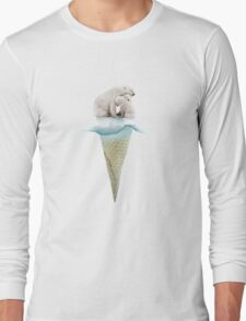 polar ice cream cap 02 Long Sleeve T-Shirt