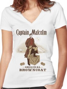 Captain Malcolm  Women's Fitted V-Neck T-Shirt