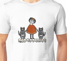 Frida and Her Skellie Cats Unisex T-Shirt