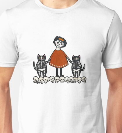 Frida and Her Skellie Cats T-Shirt