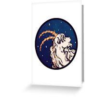 winter goat Greeting Card