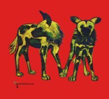 African Wild Dogs by Maryevelyn Jones