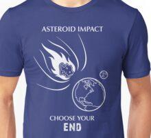 "Asteroid Impact Shirt - ""Choose Your End"" Unisex T-Shirt"