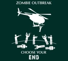 "Zombie Outbreak Shirt - ""Choose Your End"" by Thorigor"
