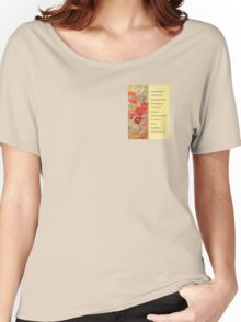 Serenity Prayer Poppies Abstract Women's Relaxed Fit T-Shirt