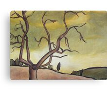 Tree Against a Yellow Sky Canvas Print