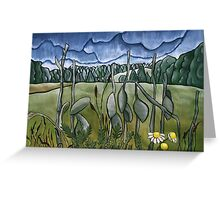 Field in Blue Greeting Card