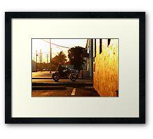 Riding home Framed Print