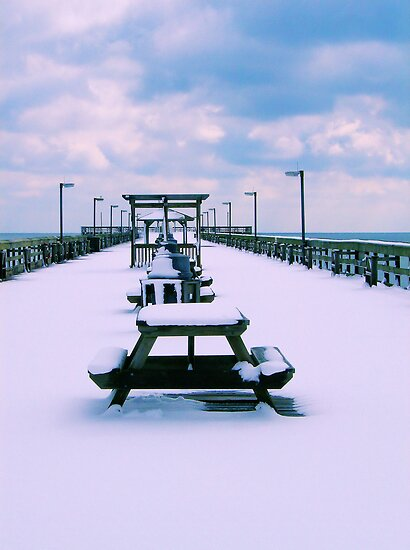 Snow Comes To The Beach by Dawne Dunton