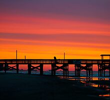 Pink Myrtle Beach Skyline by donaldhovis