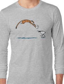 Hobbes And Snoopy Long Sleeve T-Shirt