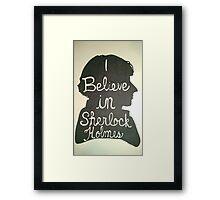 I Believe in Sherlock Holmes Silhouette Framed Print