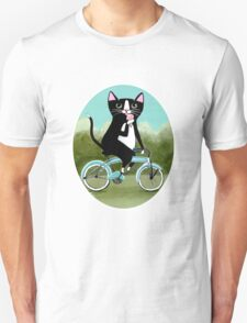 Ice Cream Bicycle Cat Unisex T-Shirt