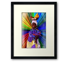 Cartagena Fruit Seller Framed Print
