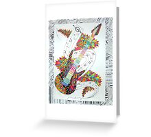 guitar mashup Greeting Card