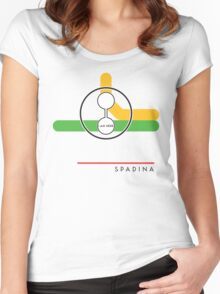 Spadina station (on Bloor-Danforth line) Women's Fitted Scoop T-Shirt