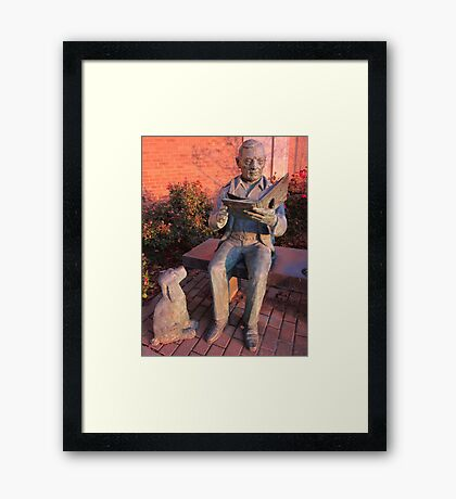 Reading To The Dog Framed Print