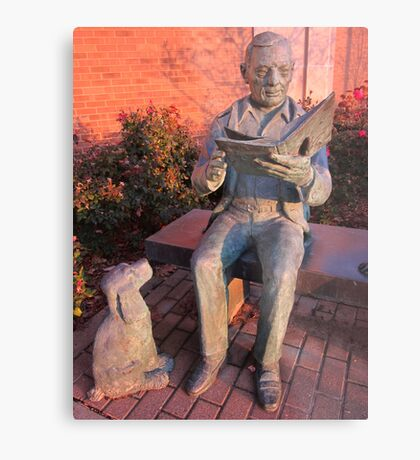 Reading To The Dog Metal Print