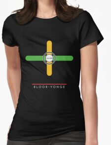Bloor-Yonge station Womens Fitted T-Shirt