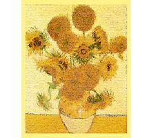 Mosaic of Glass Sunflowers Photographic Print