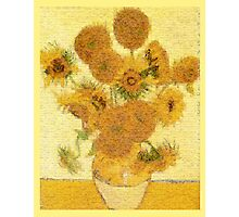 Mosaic of Glass Sunflowers Photographic Print