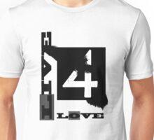 B&W boxed love Unisex T-Shirt