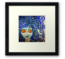 Blue Tongued Lizzie Framed Print