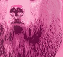 Hunting Series - The Pink Bear Head Sticker