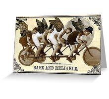 Steampunk Cyclists Greeting Card
