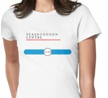 Scarborough Centre station Womens Fitted T-Shirt
