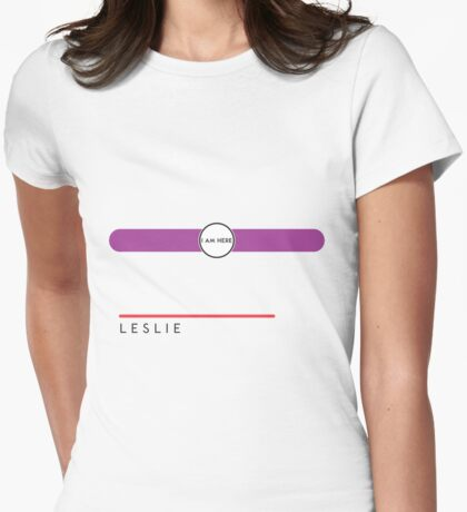 Leslie station Womens Fitted T-Shirt