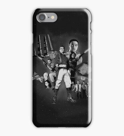 Serenity: The Alliance Strikes Back (black and white version) iPhone Case/Skin