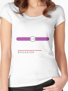 Bessarion station Women's Fitted Scoop T-Shirt